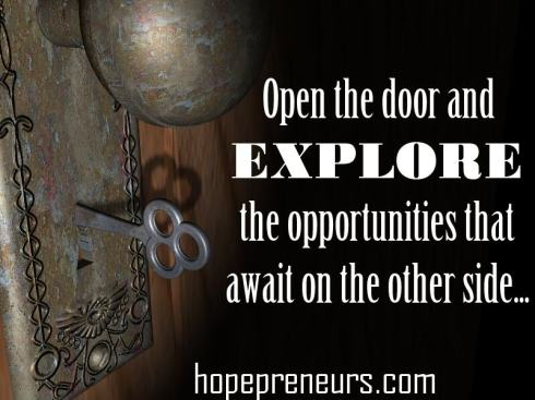 Open the door and explore the opportunities that await on the other side