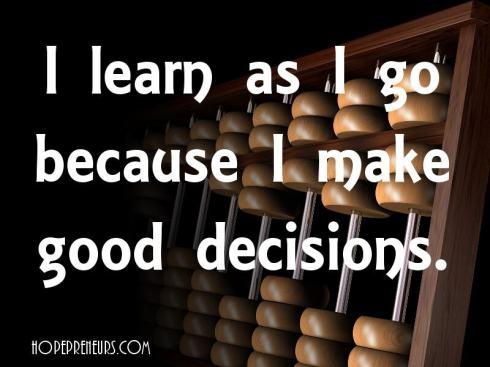 Learn as you go - make progress